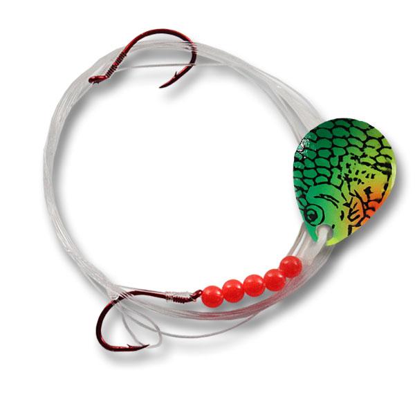 Colorado-#3-2-Hook-Fish-Scales-Green-Perch