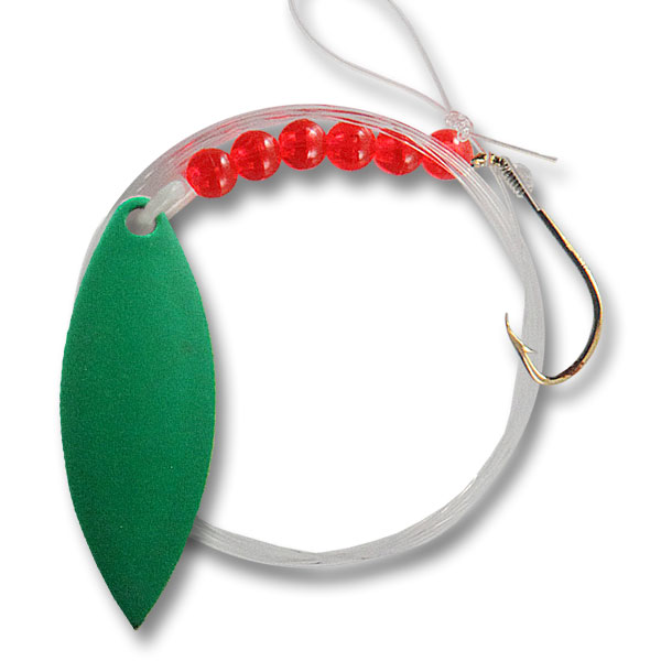 Live-Bait-Willow-Leaf-#3.5-Spinner-Green